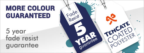 5 Year fade resistant guarantee